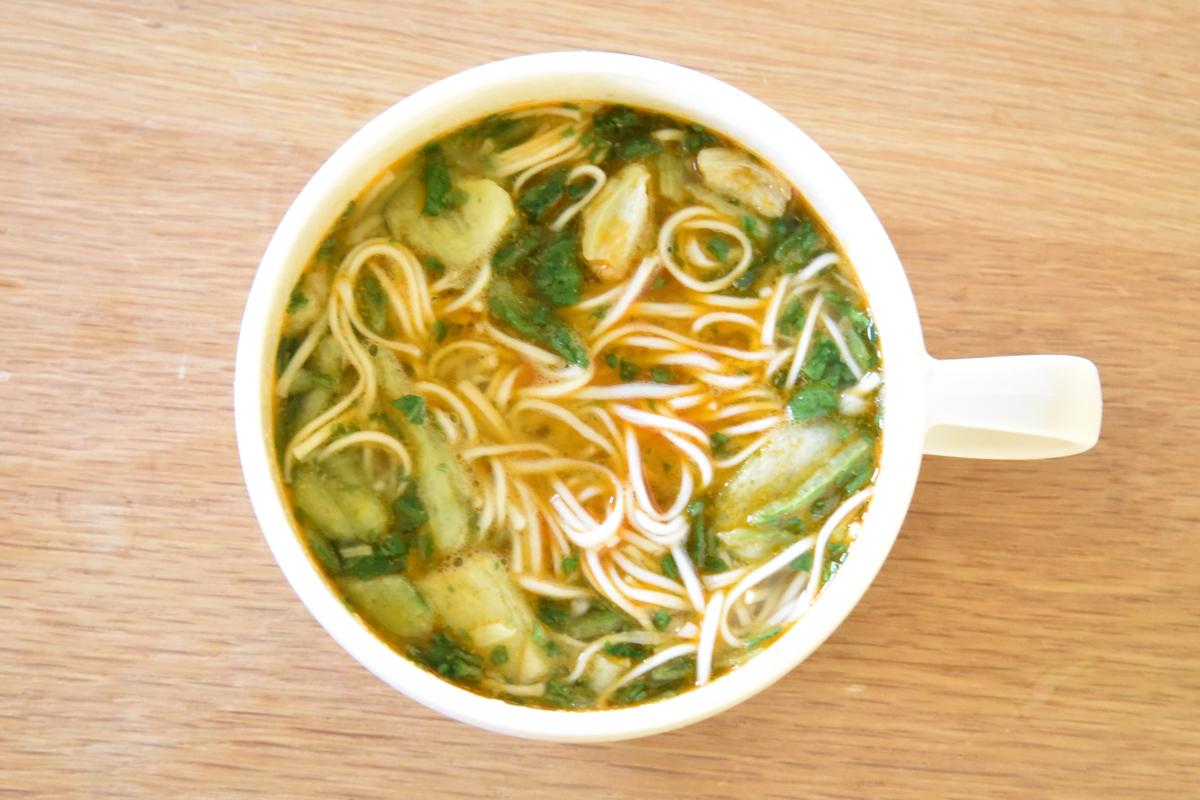 「マグカップにゅう麺」奈良県|株式会社坂利製麺所 担々麺スープ