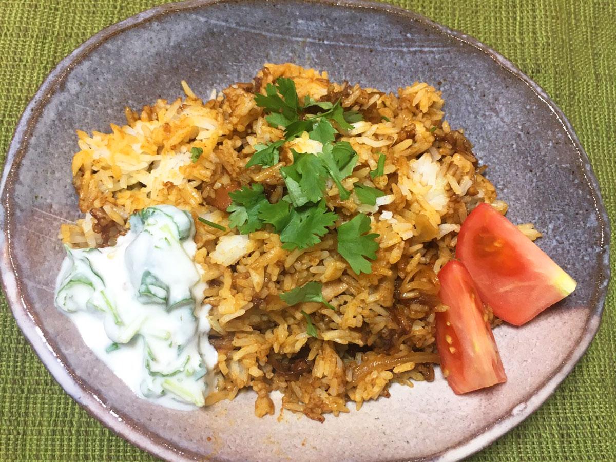 カレールー「グリコ プレミアム熟カレー」で作るルーで作れる簡単ビリヤニ風ごはん