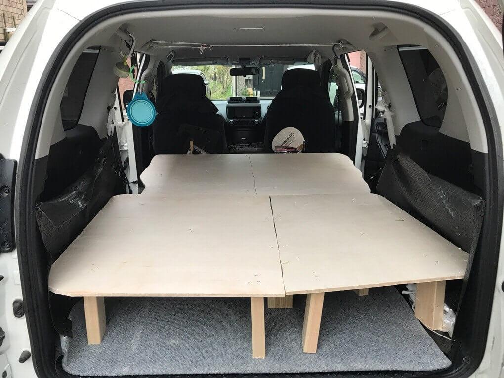 マキタの充電式インパクトドライバで車中泊用のベッドを制作