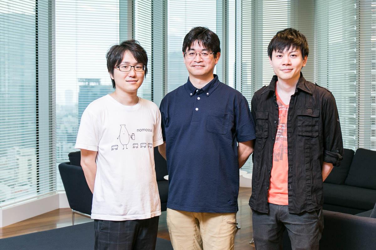 左から、伊藤康太さん、大津繁樹さん、栗山太希さん