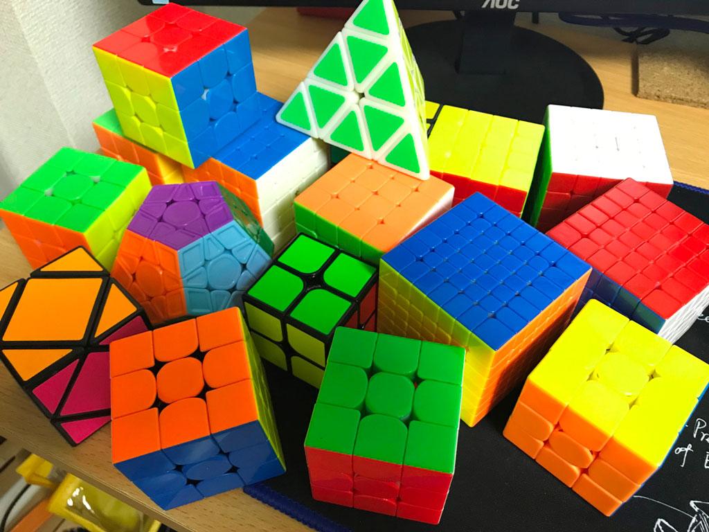 所持しているキューブ(立体パズル)たち