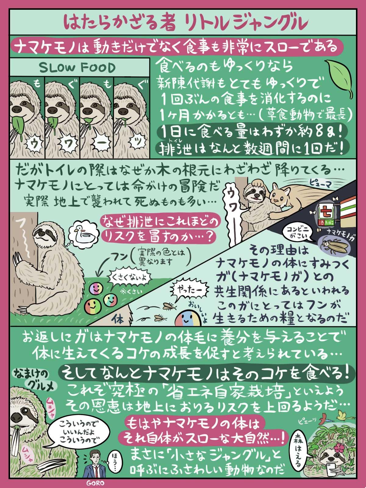 ナマケモノ図解
