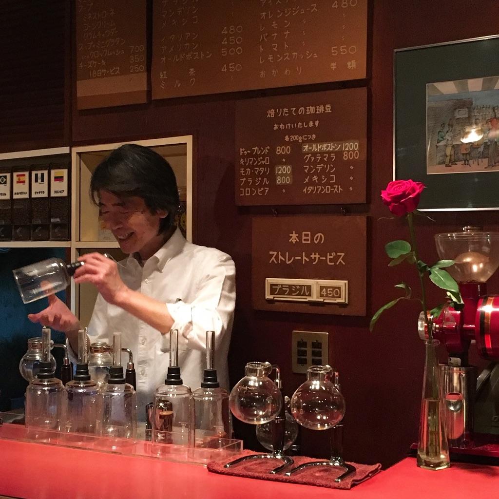 コーヒーの店 ドゥーのマスター、嵯峨さん