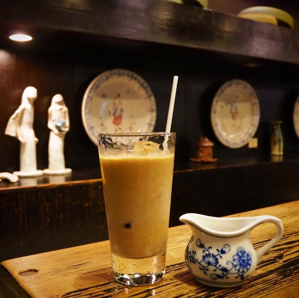 古瀬戸珈琲店の「アイスカフェオレ」