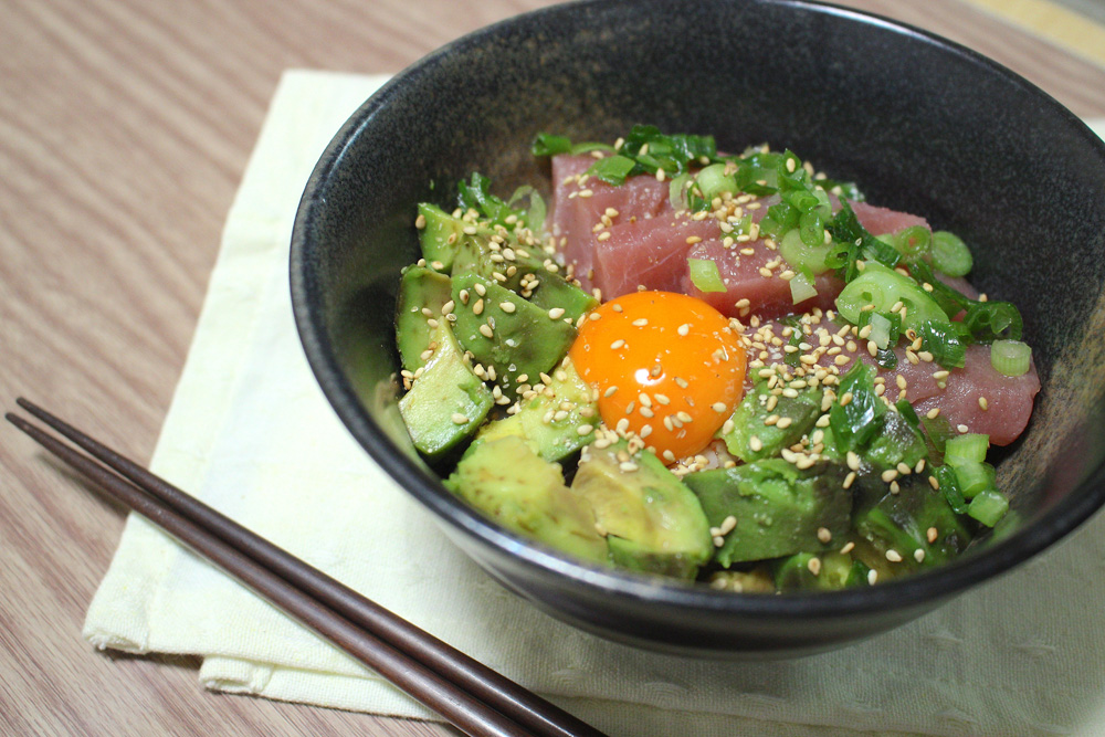 マグロ納豆アボカド丼