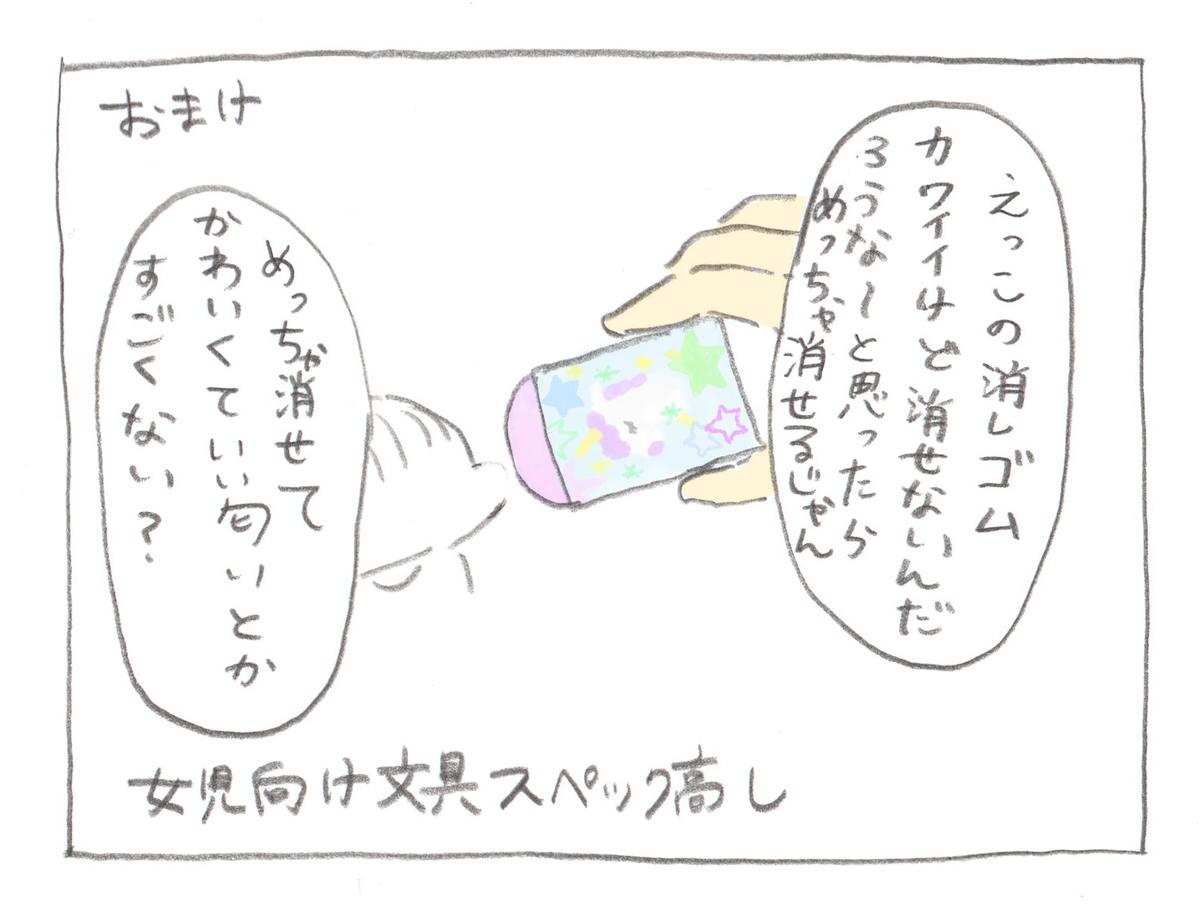 育児絵日記・ぎゅうにゅう:子供用の文房具が母の心をつかんでくる話。ふでばこ・シャーペン・消しゴムを購入