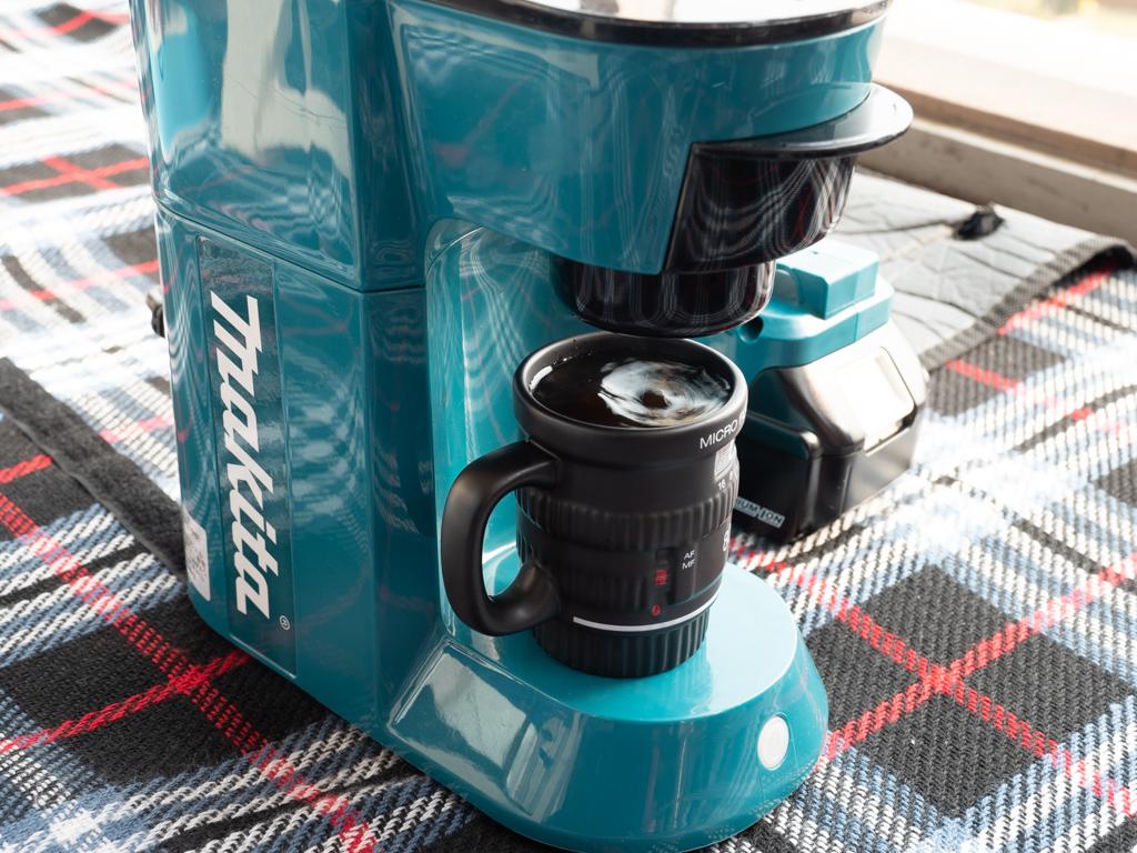 マキタのコーヒーメーカーで本格的なコーヒーを淹れる