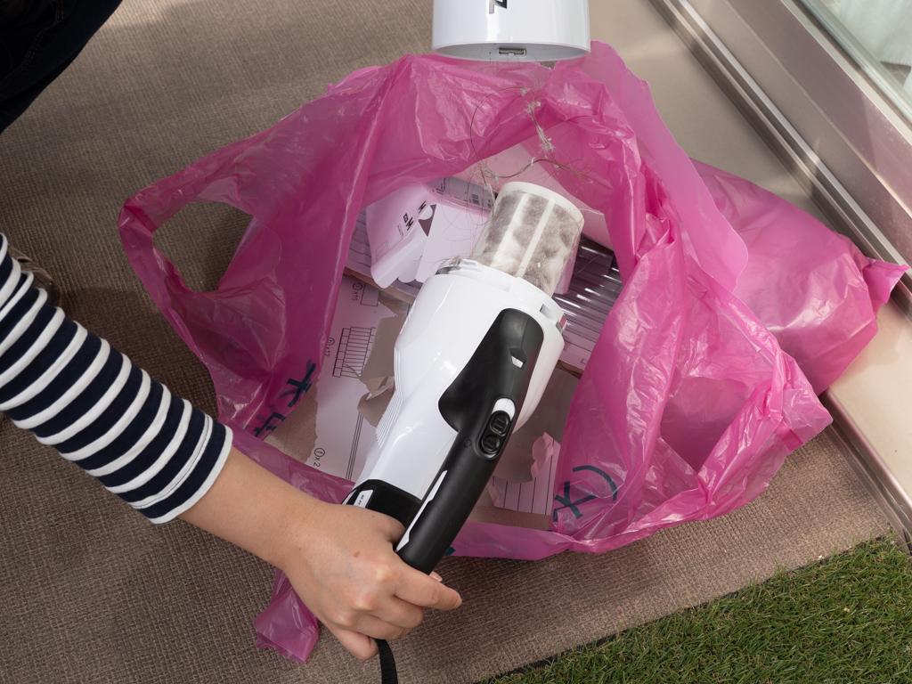 マキタの充電式クリーナー ゴミ捨て
