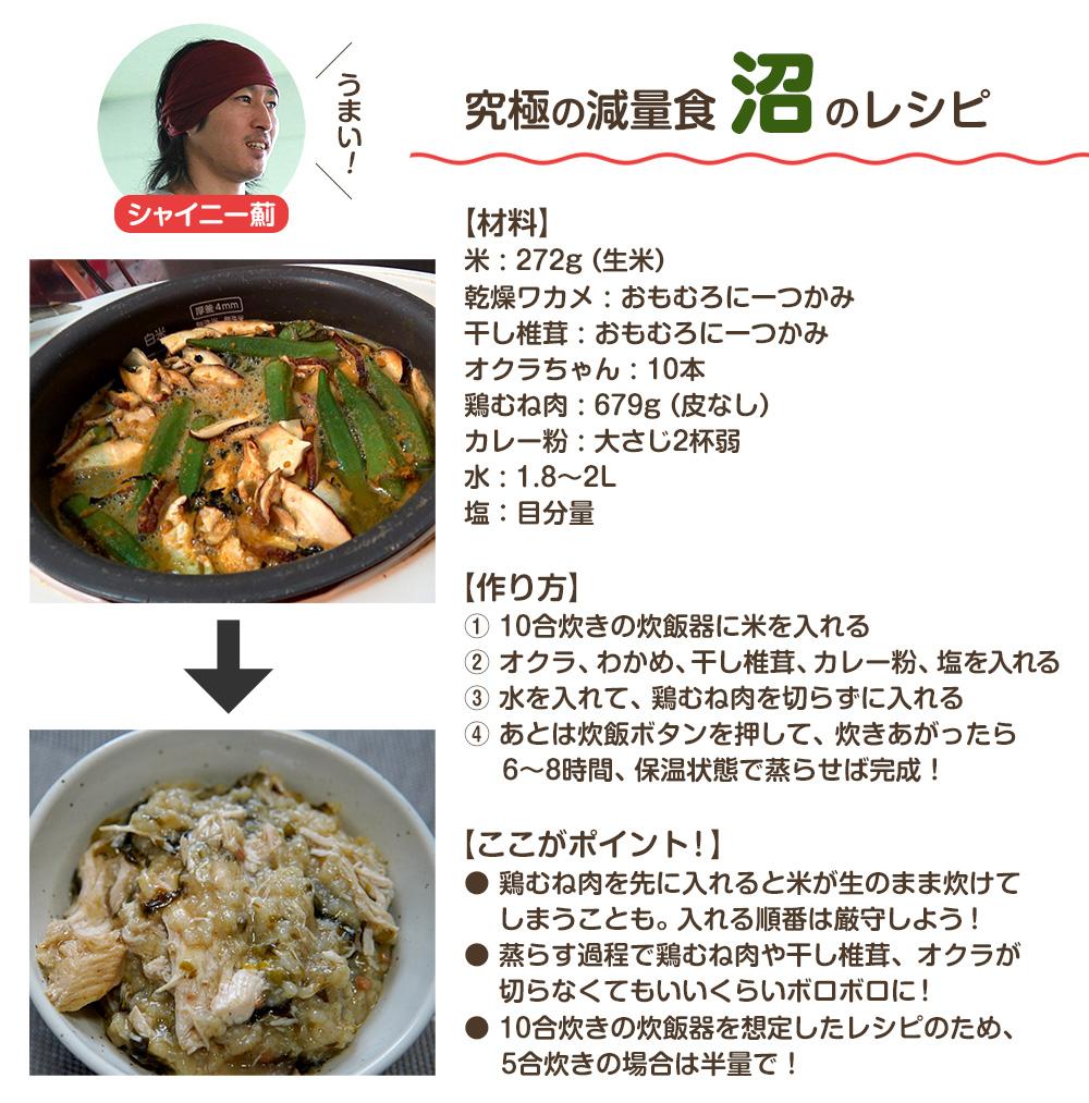 マッスルグリルの「沼」レシピ