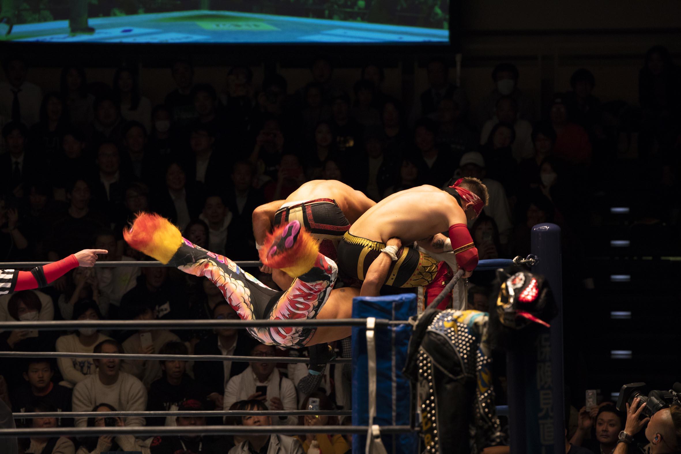 高橋ヒロム選手の試合風景