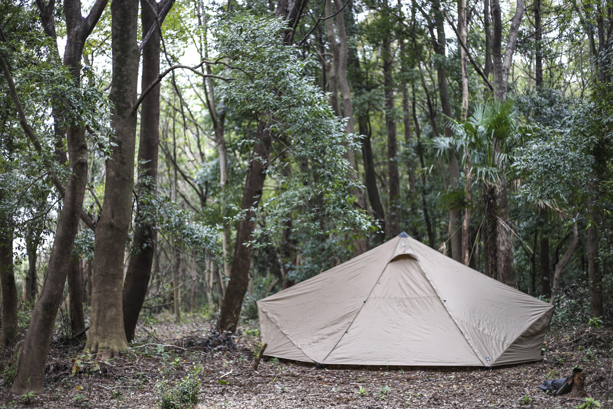 快適さを重視したテント(シェルター)