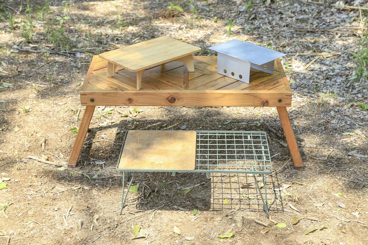 ソロキャンプ用のテーブルの選び方