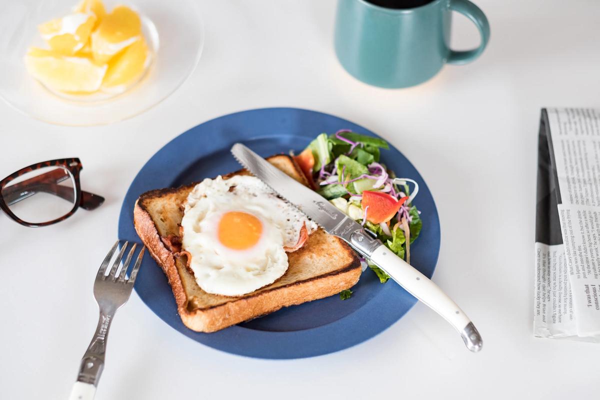 朝ごはんの盛り付け例