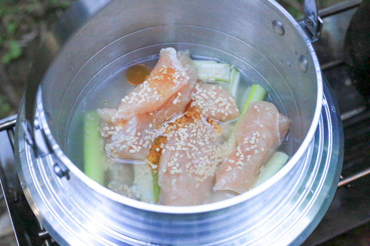 鶏の中華風炊き込みご飯