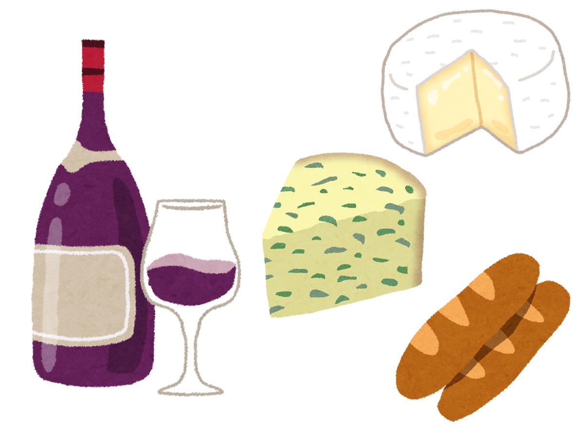 フランスでチーズとワインに出会う
