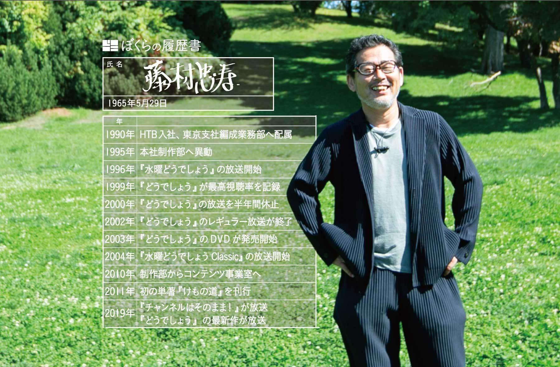 藤村忠寿さん履歴書カット