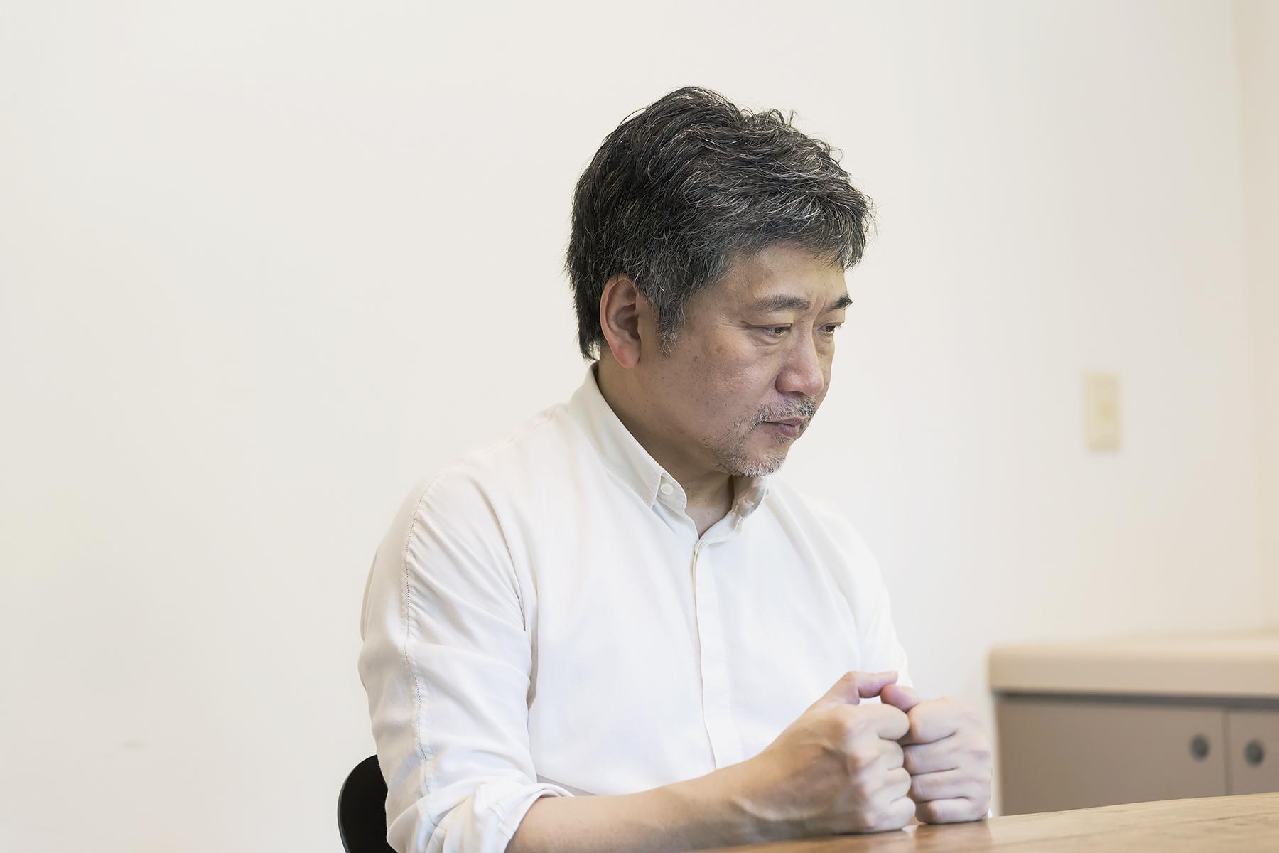 是枝裕和さんのインタビューカット
