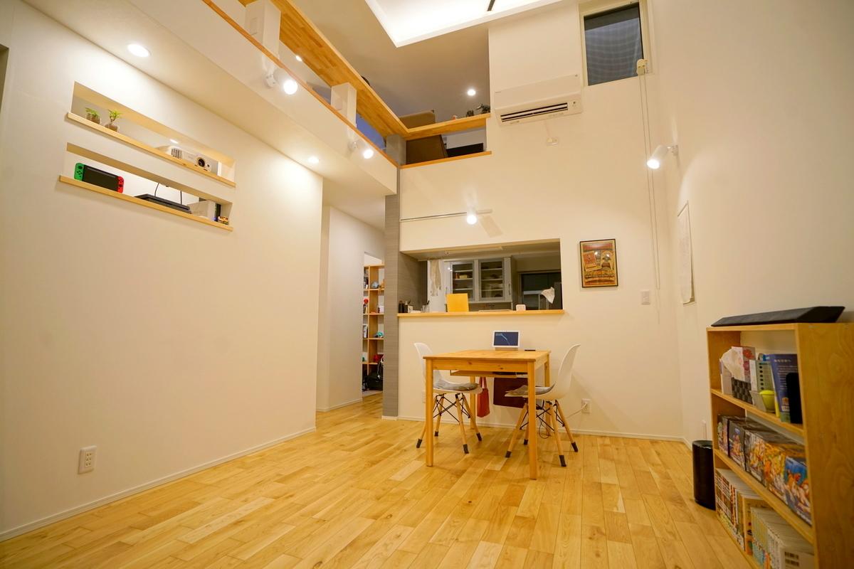 土間を活用した狭小住宅