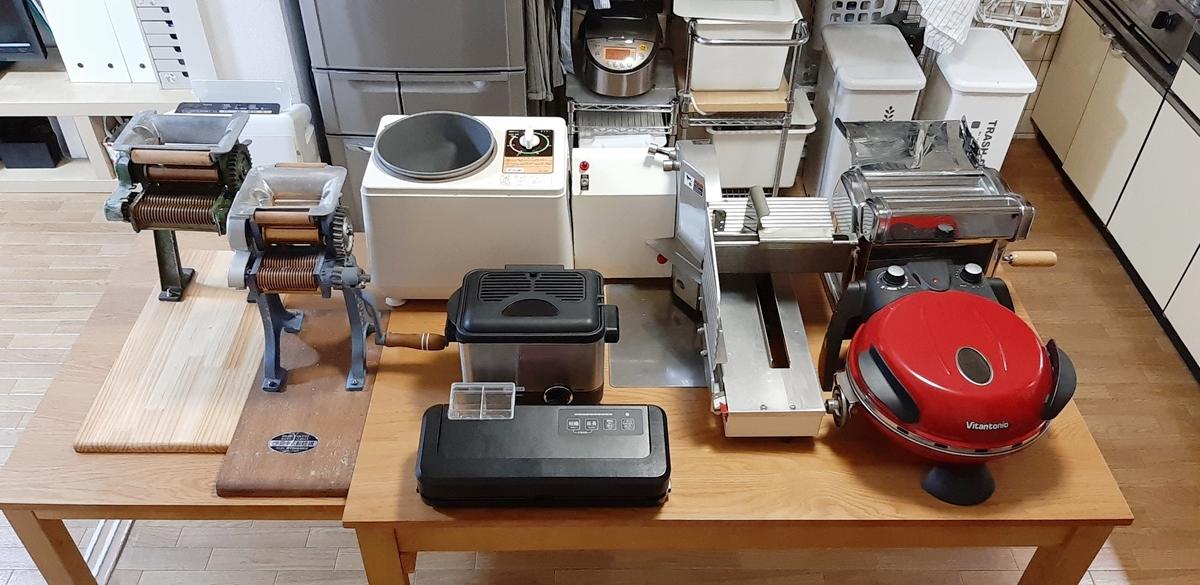 我が家にはさまざまな調理器具があります