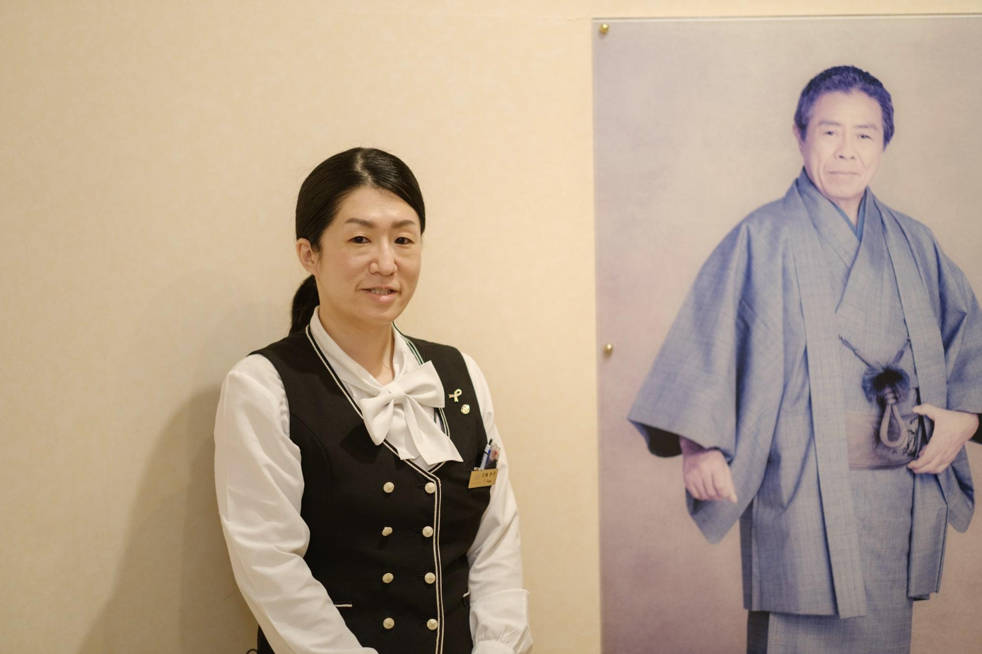 北島三郎記念館の安藤さん