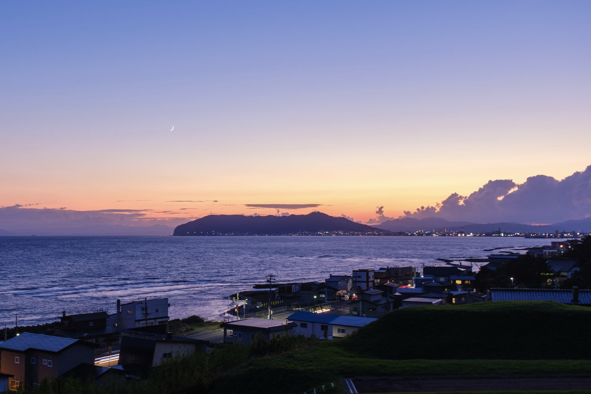 志苔館跡からの夕景色