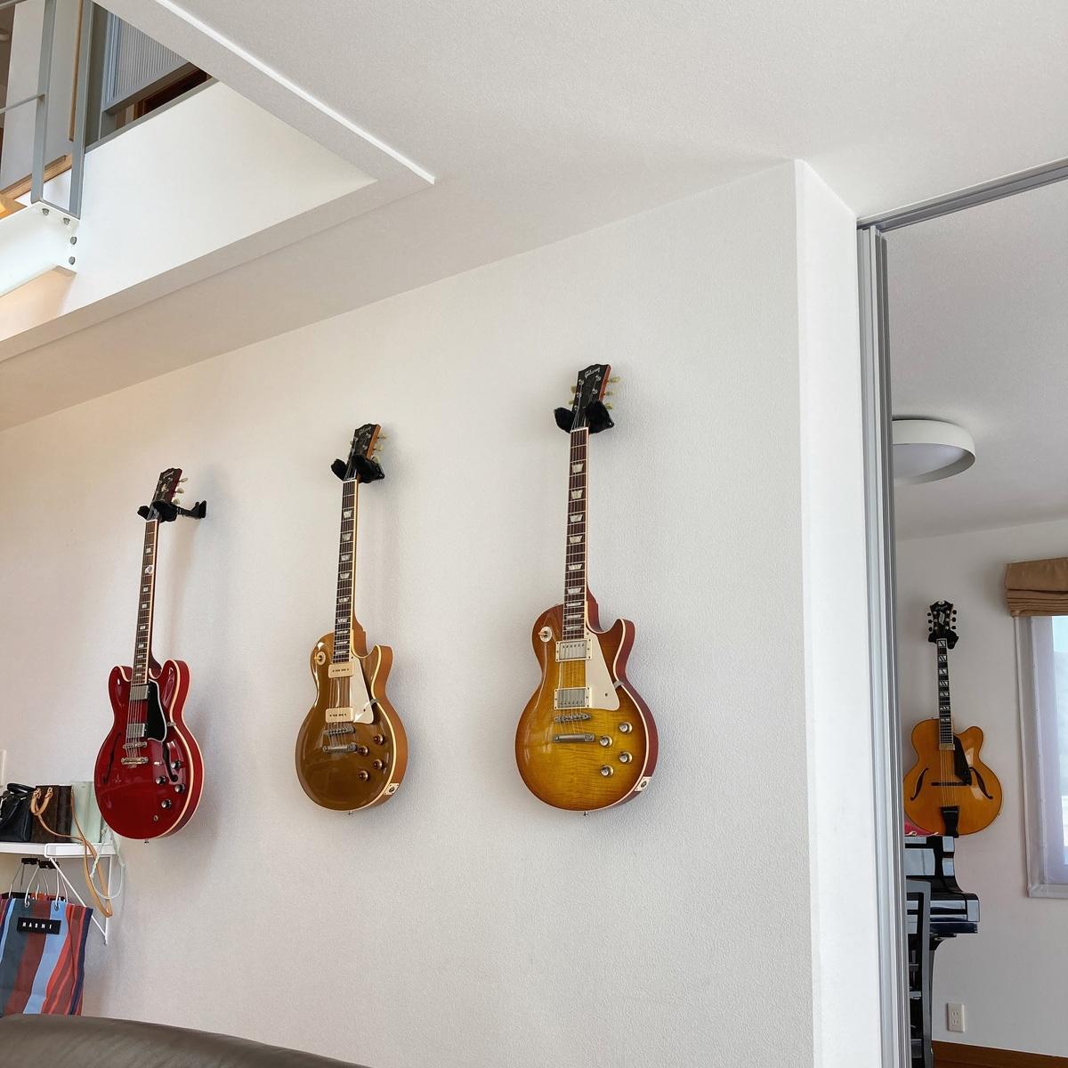 西脇市の自宅にあるギターの写真