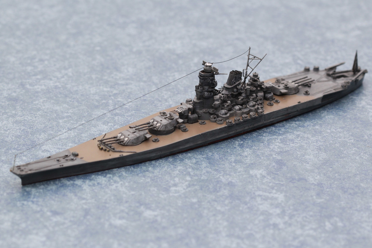 石坂浩二さんの作品、タミヤ1/700 日本戦艦 大和(やまと)