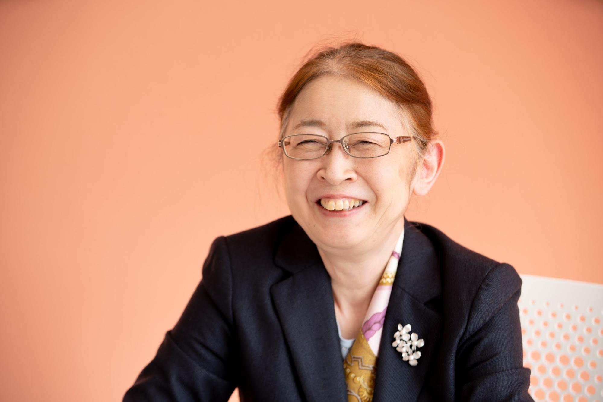村木厚子さんの満面の笑顔