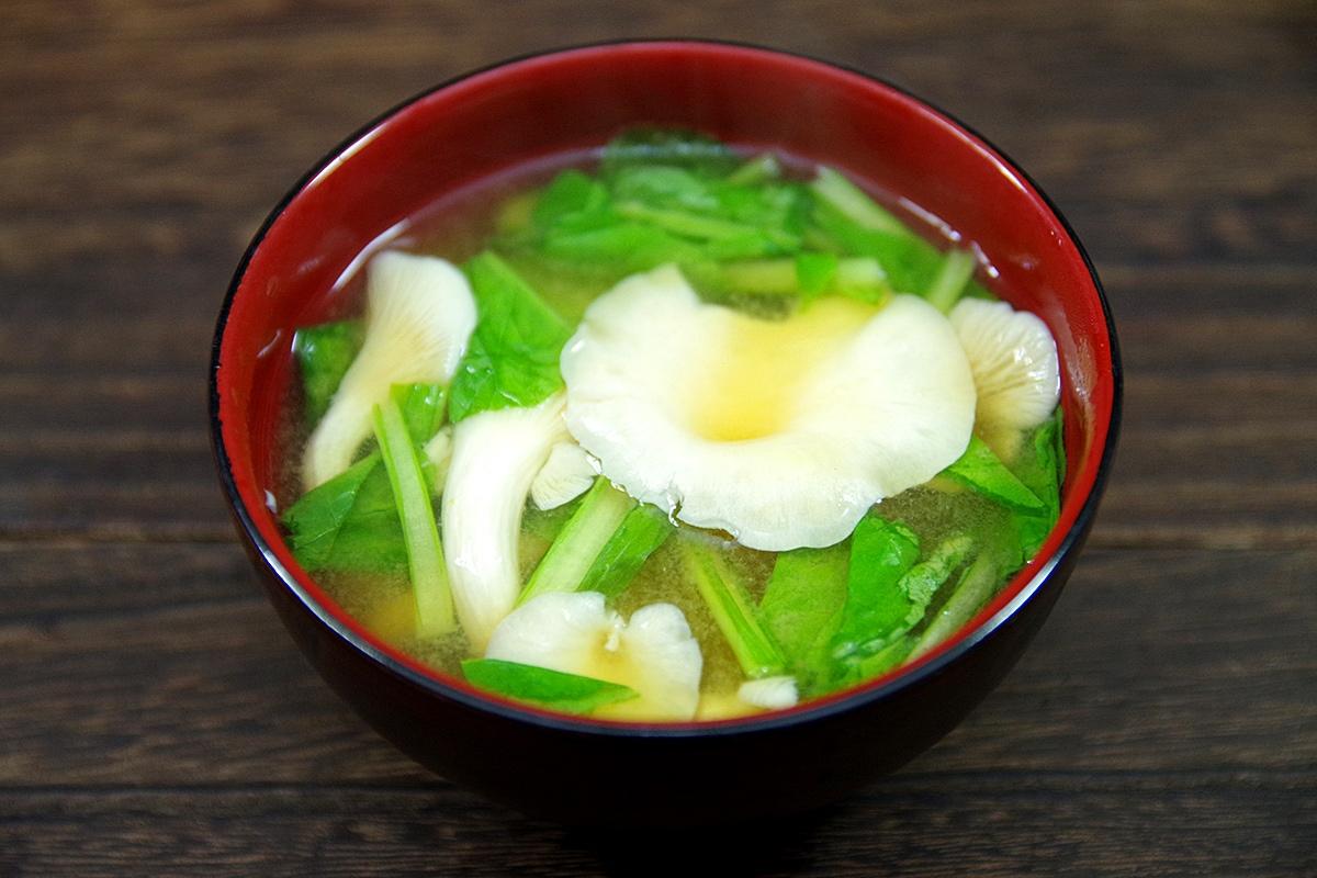 タモギタケの味噌汁