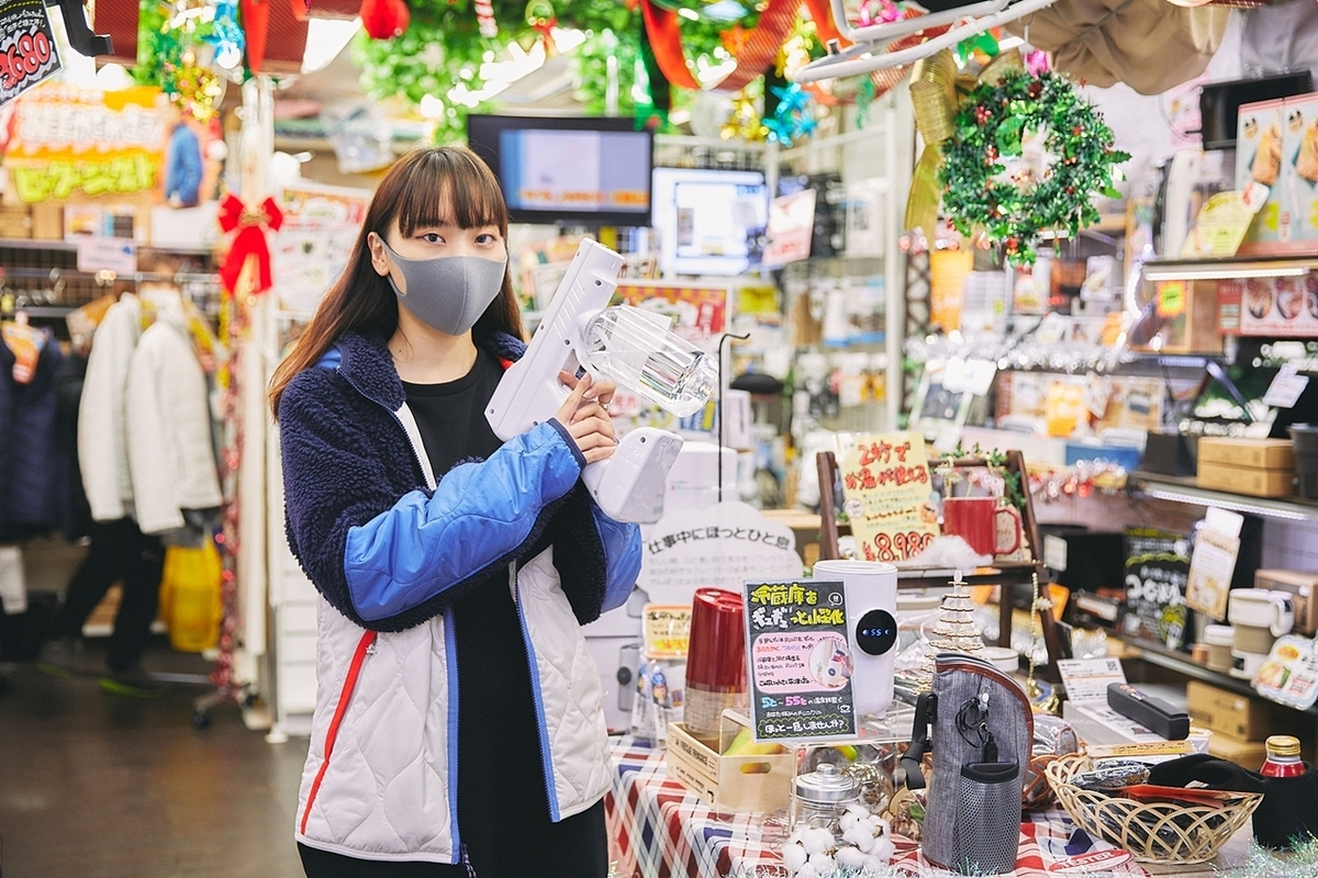 サンコーの店舗に移動した藤原麻里菜さん