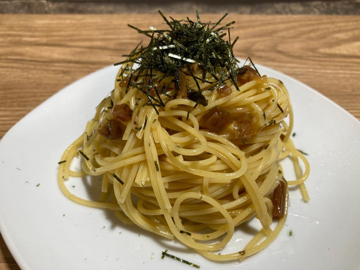 きのこと野沢菜にんにくしょうゆ味(マ・マー)調理イメージ