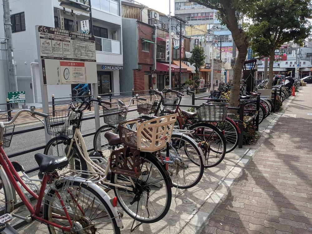 大阪の路上自転車の写真