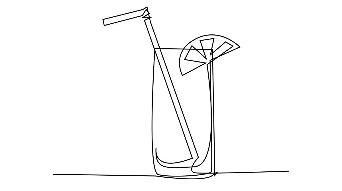 お酒を飲む様子のイメージ画像