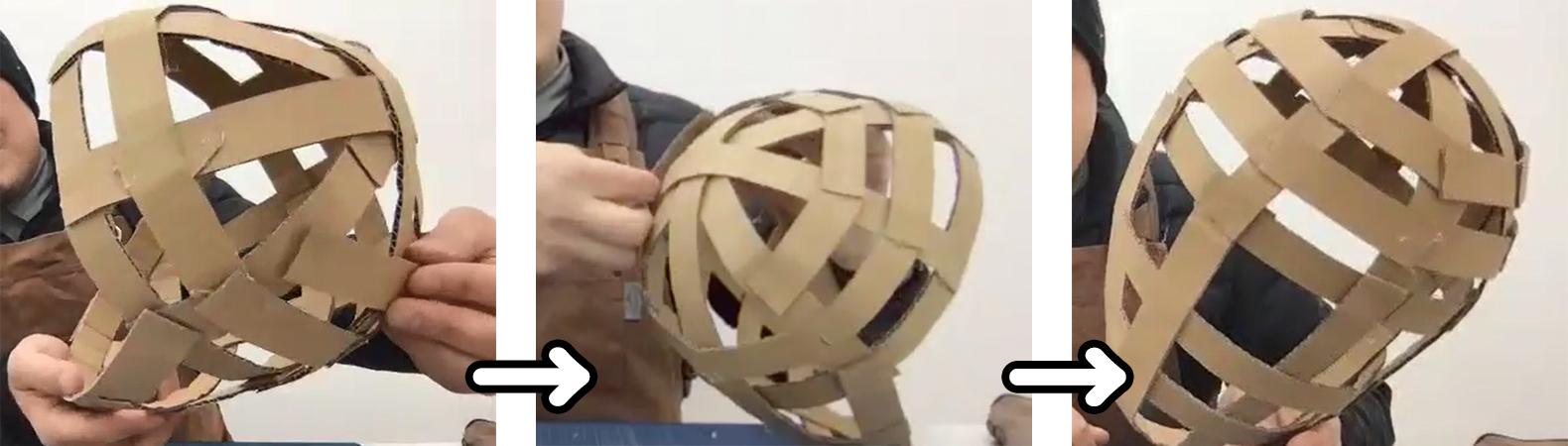 家にあるダンボールを使って、子供と一緒にダンボールお面を作ろう