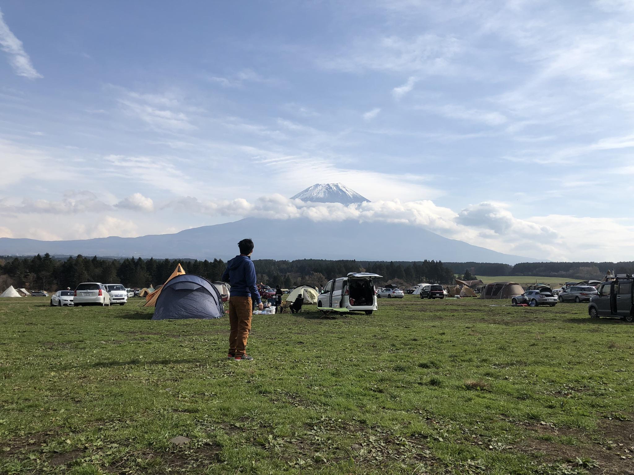 キャンプ場からの景色