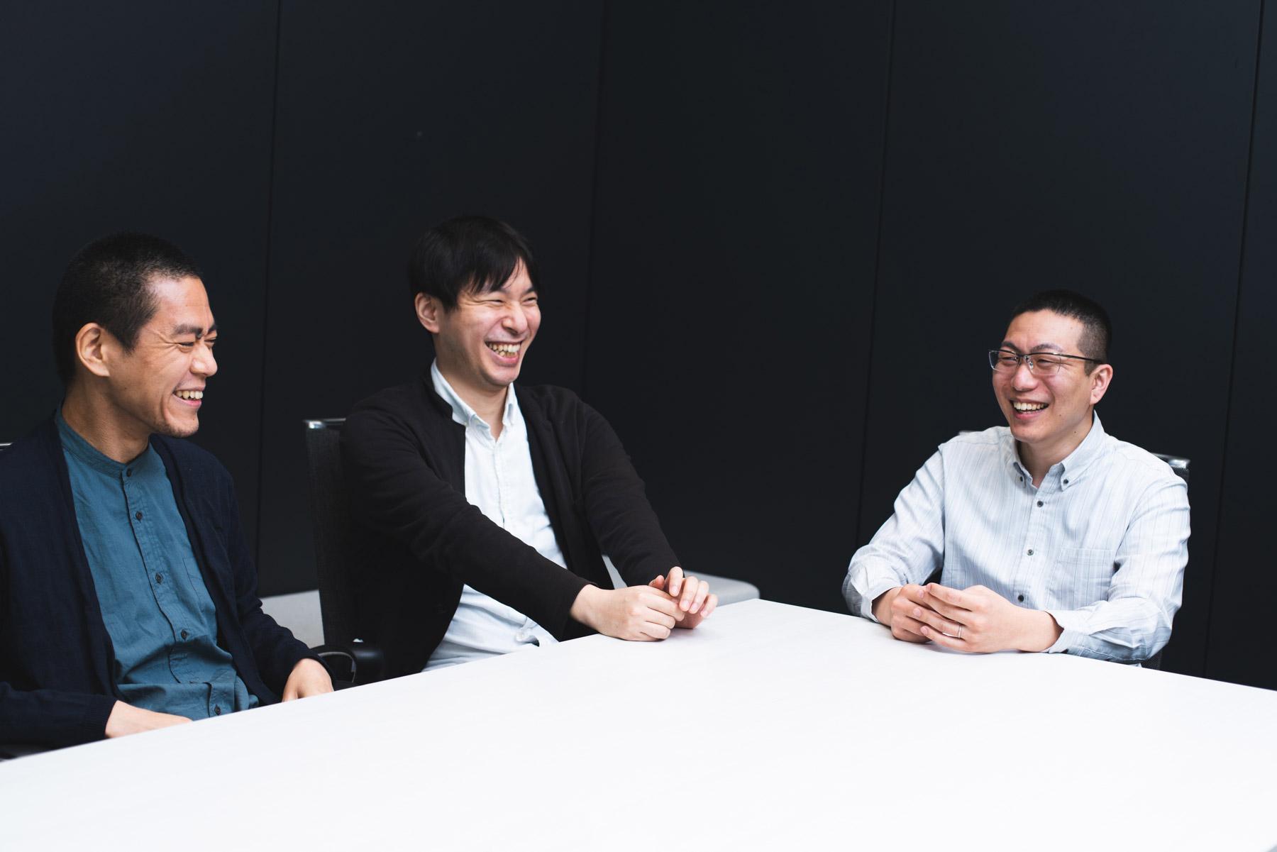 ニューズピックスのエンジニア3人の笑顔