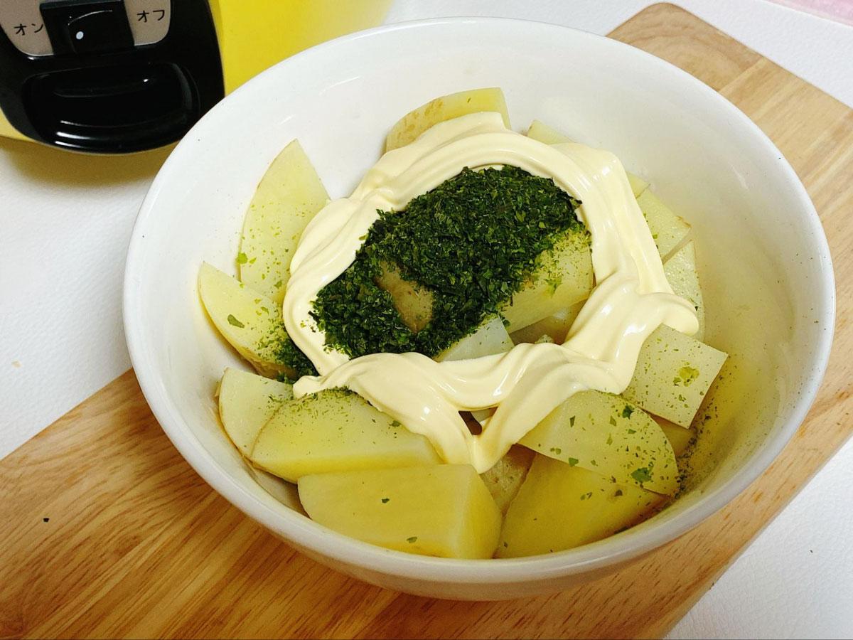 青のりのポテトサラダの作り方