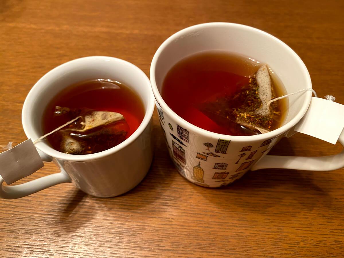 ティーバッグでいれた紅茶