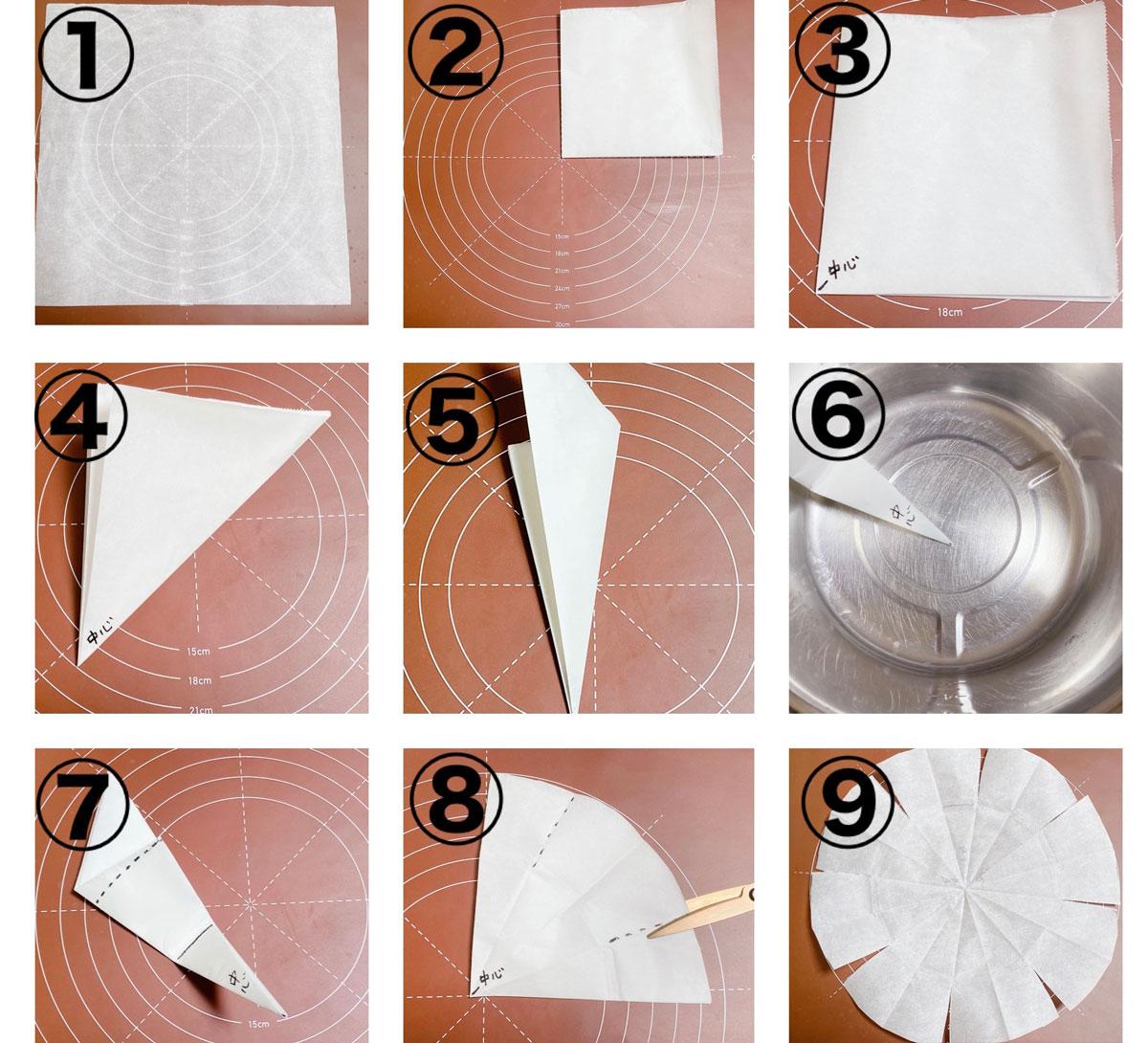 オーブンシートの簡単な切り方