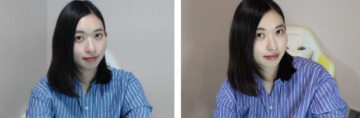 左:Webカメラ 右:α6600