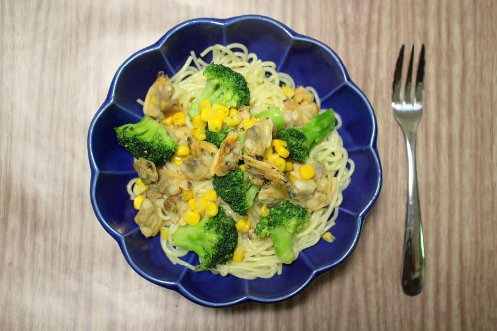 ブロッコリーとあさりのスパゲッティ