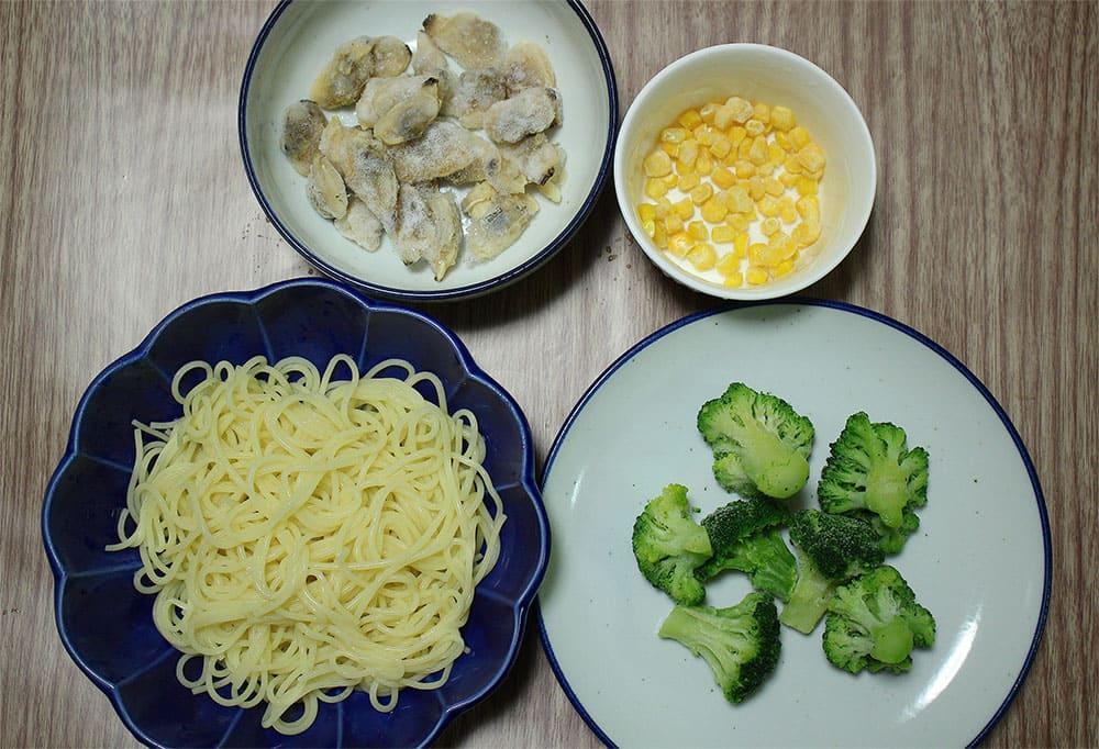 ブロッコリーとあさりのスパゲッティ 材料