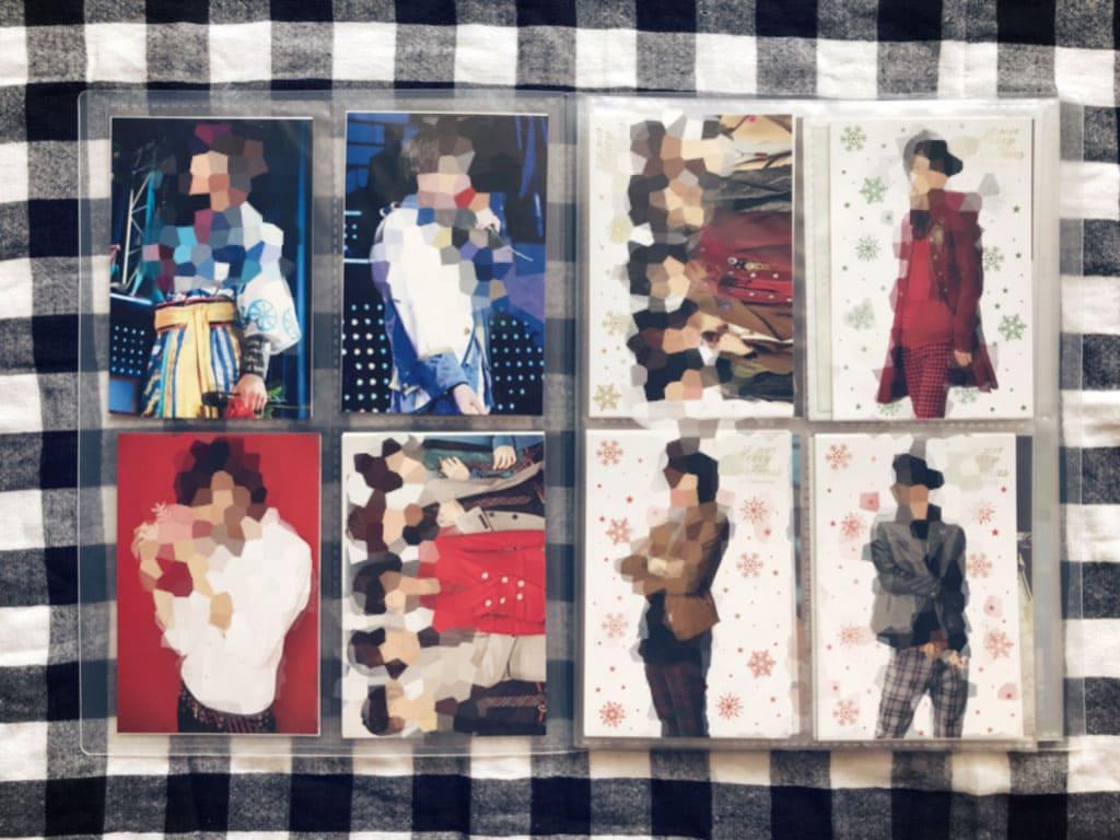 ジャニヲタ収納術・ポストカードは1ページにつき見開き8枚収納できる