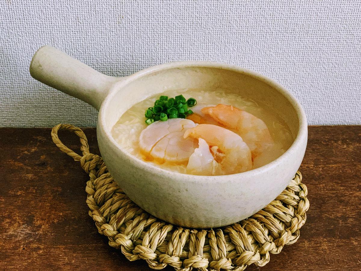ぷりぷり海老と帆立の中華風粥