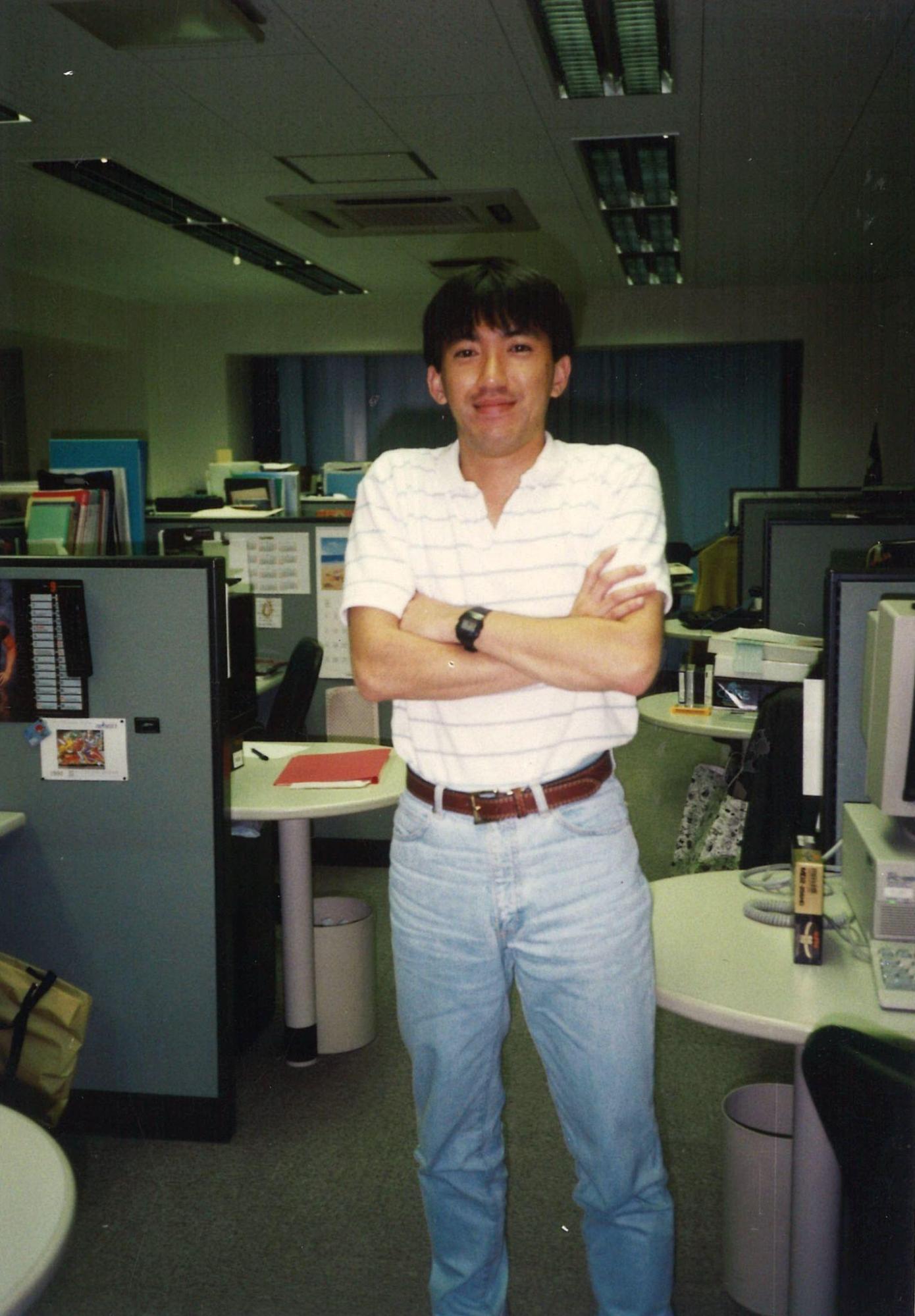 入社2~3年目のころ、当時のカプコンオフィスの写真