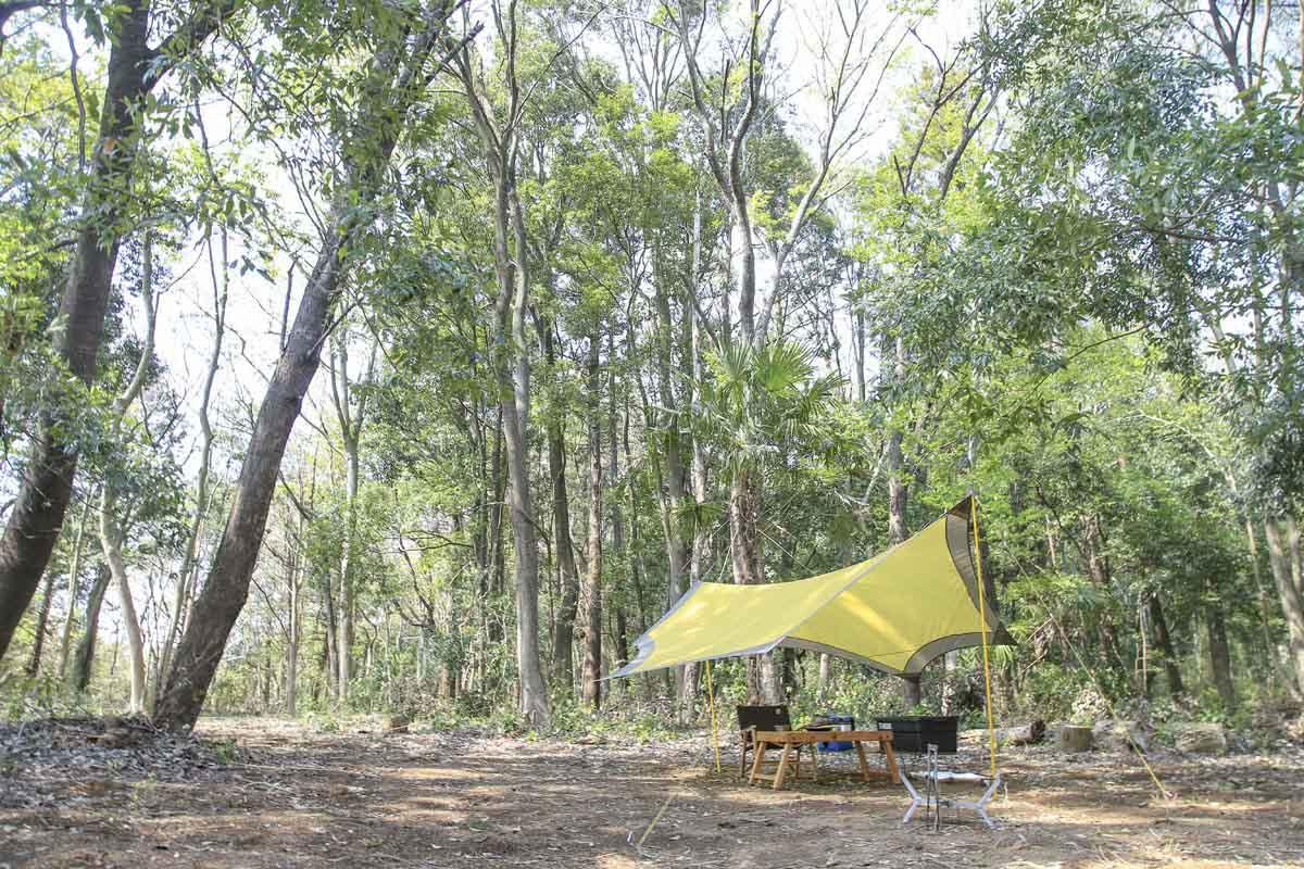 キャンプには日よけになるタープもあると便利