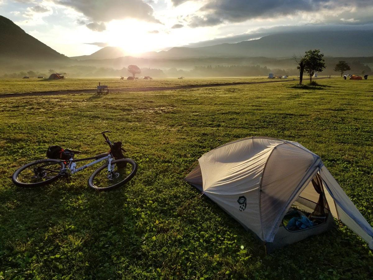 自転車ソロキャンプ