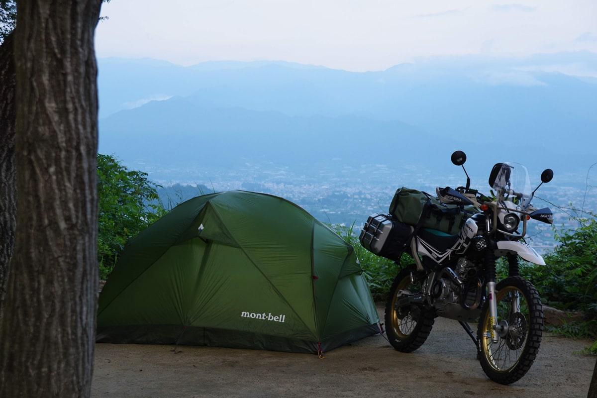 バイクでのソロキャンプ
