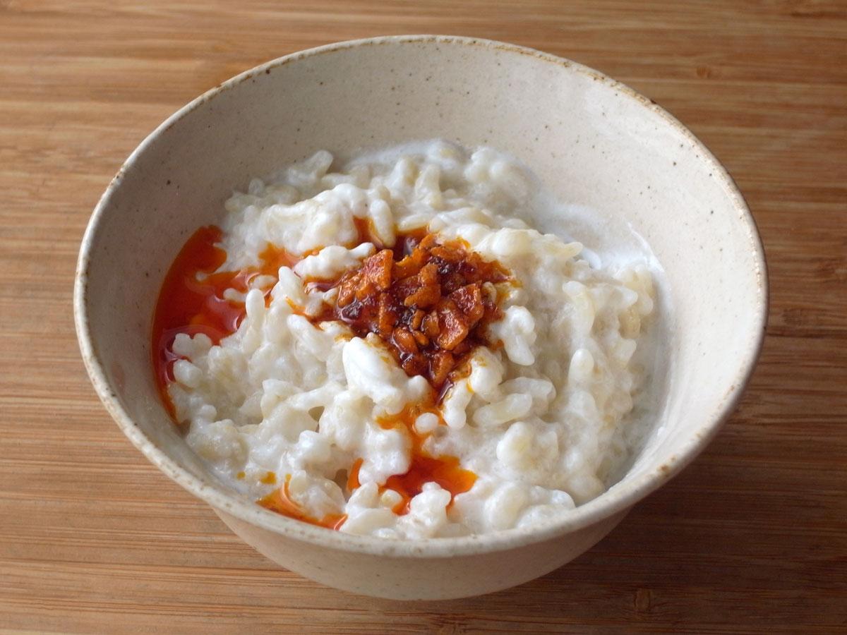 食べるラー油のヨーグルトご飯