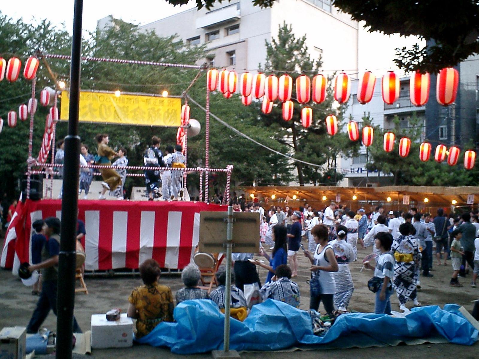 北新井公園の盆踊り大会